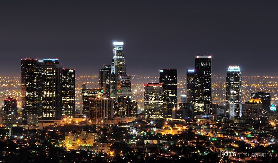 Los Angeles at night time-lapse