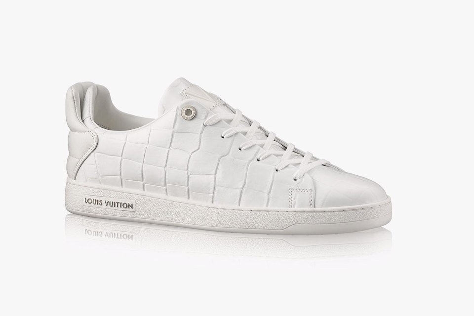 Louis Vuitton Frontrow crocodile leather white