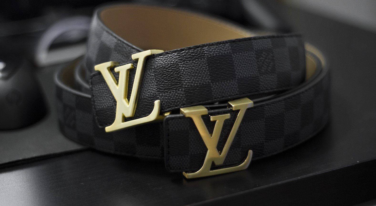 all designer belts hjjw  Louis Vuitton Damier belt