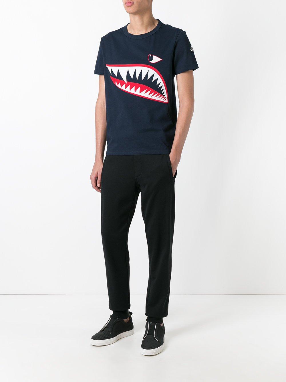 Moncler Shark Print t-shirt