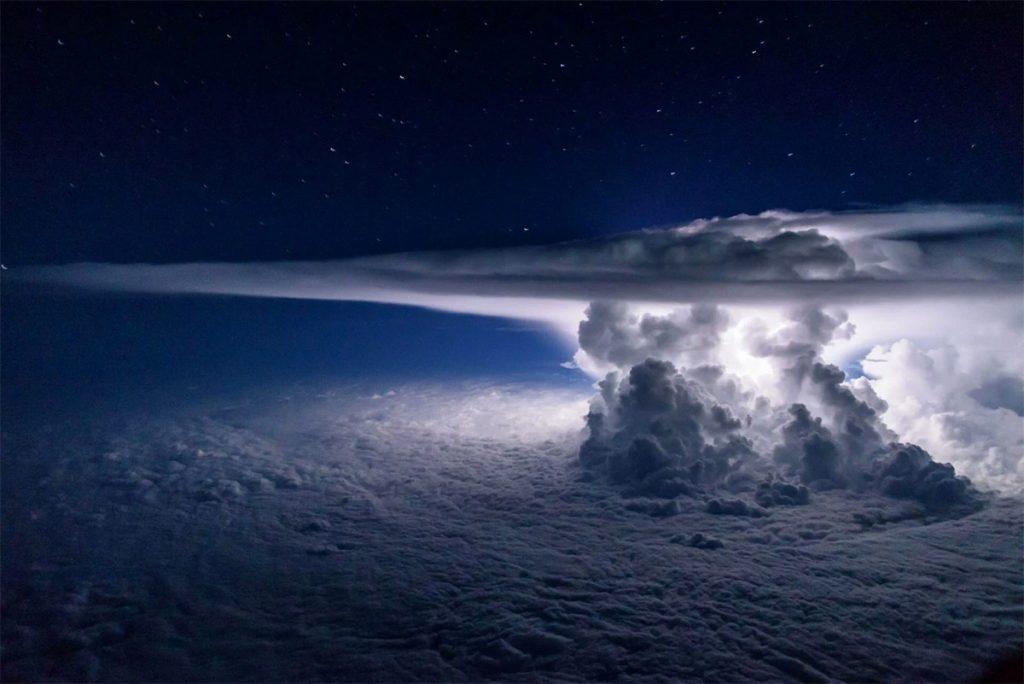 stormy cloudy sky